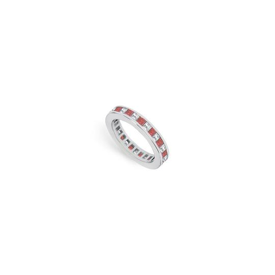 Preload https://img-static.tradesy.com/item/24277147/red-cubic-zirconia-and-created-ruby-eternity-band-14k-white-gold-200-ct-t-ring-0-0-540-540.jpg
