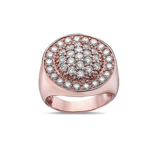 OMI Jewelry Men's 14K Rose Gold Ring with 2.88 CT Diamonds