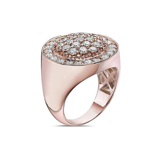 OMI Jewelry Men's 14K Rose Gold Ring with 2.88 CT Diamonds Image 2