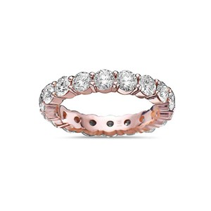 OMI Jewelry Men's 14K Rose Gold Eternity Band with 5.44 CT Diamonds