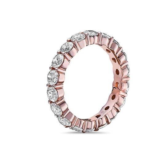 OMI Jewelry Men's 14K Rose Gold Eternity Band with 5.44 CT Diamonds Image 1