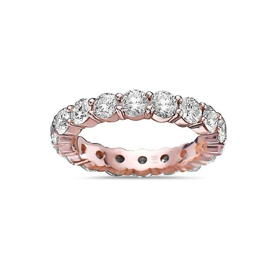 OMI Jewelry Men's 14K Rose Gold Eternity Band with 5.44 CT Diamonds Image 2