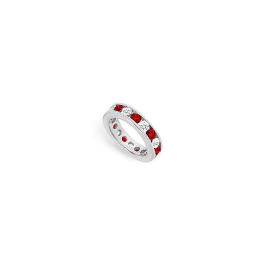 Preload https://img-static.tradesy.com/item/24277174/red-cubic-zirconia-and-created-ruby-eternity-band-14k-white-gold-300-ct-t-ring-0-0-540-540.jpg