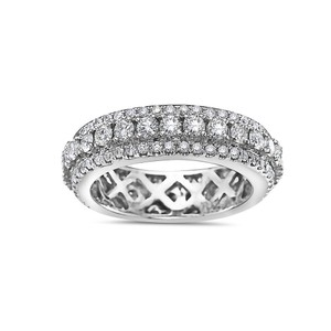 OMI Jewelry Men's 14K White Gold Eternity Band with 3.25 CT Diamonds