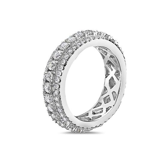 OMI Jewelry Men's 14K White Gold Eternity Band with 3.25 CT Diamonds Image 1