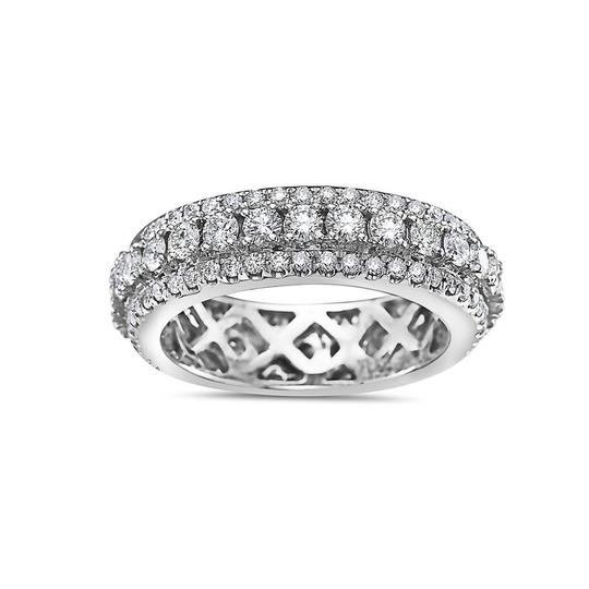 OMI Jewelry Men's 14K White Gold Eternity Band with 3.25 CT Diamonds Image 2