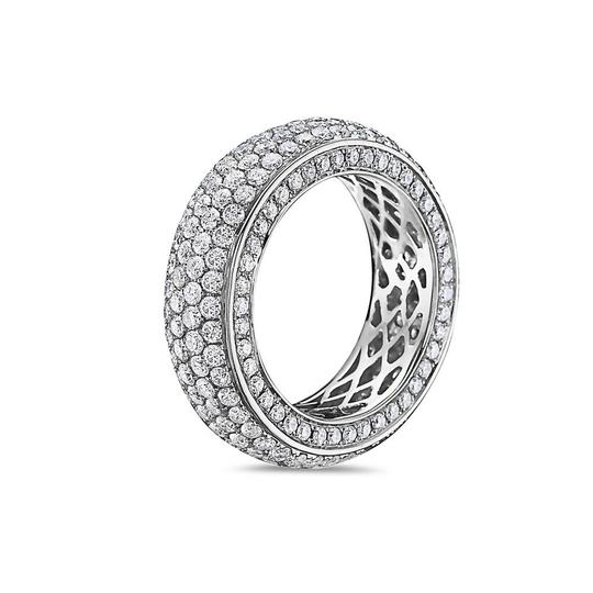 OMI Jewelry Men's 14K White Gold Eternity Band with 4.90 CT Diamonds Image 1