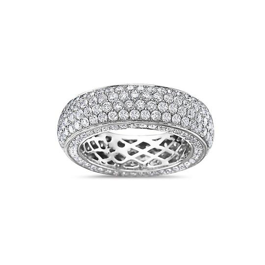 OMI Jewelry Men's 14K White Gold Eternity Band with 4.90 CT Diamonds Image 2