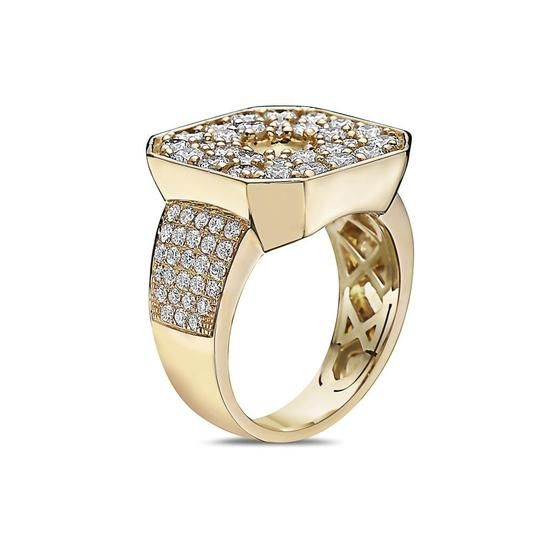 OMI Jewelry Men's 14K Yellow Gold Ring with 3.83 CT Diamonds Image 1