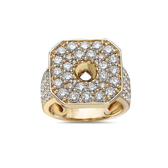 OMI Jewelry Men's 14K Yellow Gold Ring with 3.83 CT Diamonds Image 2