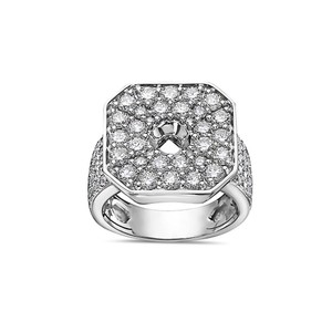 OMI Jewelry Men's 14K White Gold Ring with 3.83 CT Diamonds