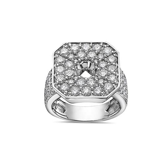 OMI Jewelry Men's 14K White Gold Ring with 3.83 CT Diamonds Image 2