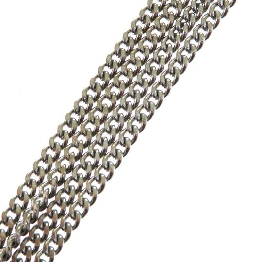 Chanel CHANEL Chain Rhinestone Pendant Necklace Silver Plated Accessory Image 4