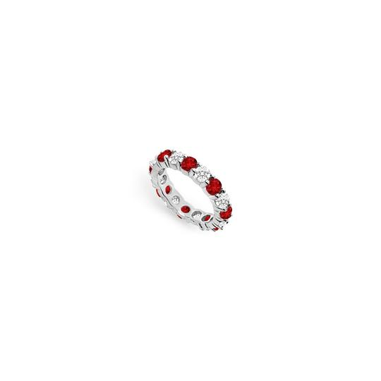 Preload https://img-static.tradesy.com/item/24277192/red-cubic-zirconia-and-created-ruby-eternity-band-14k-white-gold-400-ct-t-ring-0-0-540-540.jpg