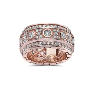 OMI Jewelry Men's 14K Rose Gold Eternity Band with 4.72 CT Diamonds