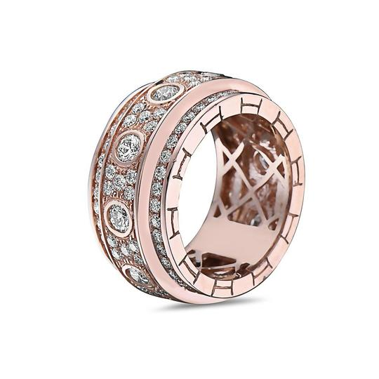 OMI Jewelry Men's 14K Rose Gold Eternity Band with 4.72 CT Diamonds Image 1