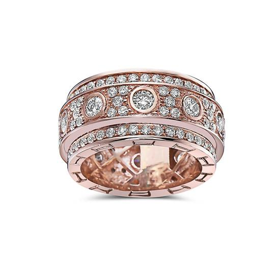 OMI Jewelry Men's 14K Rose Gold Eternity Band with 4.72 CT Diamonds Image 2