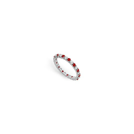 Preload https://img-static.tradesy.com/item/24277199/red-cubic-zirconia-and-created-ruby-eternity-band-14k-white-gold-100-ct-t-ring-0-0-540-540.jpg