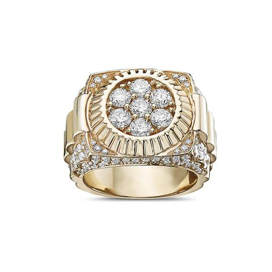 OMI Jewelry Men's 14K Yellow Gold Ring with 3.53 CT Diamonds Image 2