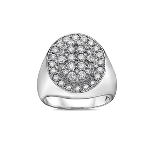 OMI Jewelry Men's 14K White Gold Ring with 2.17 CT Diamonds