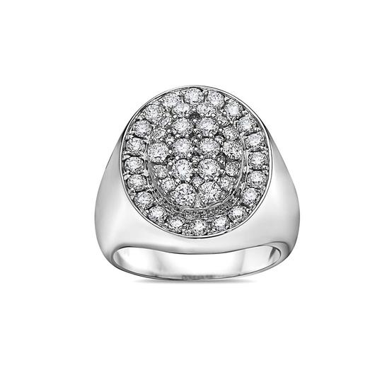 OMI Jewelry Men's 14K White Gold Ring with 2.17 CT Diamonds Image 2