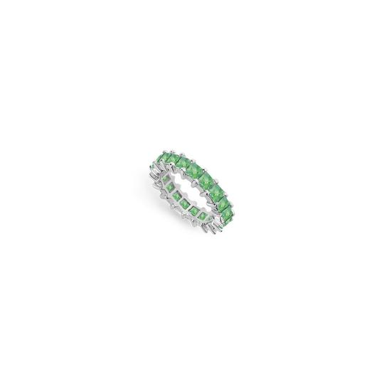 Preload https://img-static.tradesy.com/item/24277206/green-may-birthstone-created-emerald-eternity-band-14k-white-gold-4-ct-tgw-f-ring-0-0-540-540.jpg