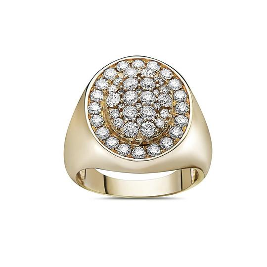 OMI Jewelry Men's 14K Yellow Gold Ring with 2.17 CT Diamonds Image 2
