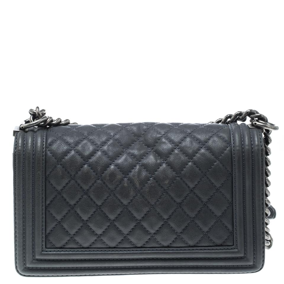 f7d39a3b57 Chanel Classic Flap Boy Quilted Medium Paris Dallas Blue Leather ...