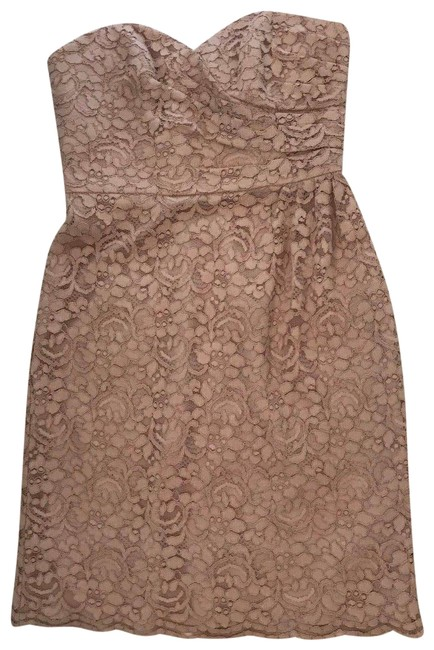 Preload https://img-static.tradesy.com/item/24277243/david-s-bridal-mauve-pink-womens-lace-rose-gold-strapless-mid-length-cocktail-dress-size-6-s-0-3-650-650.jpg