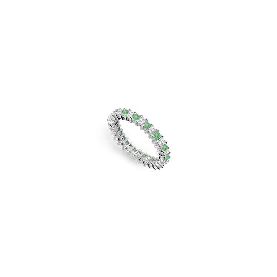 Preload https://img-static.tradesy.com/item/24277265/green-cubic-zirconia-and-created-emerald-eternity-band-in-14k-white-gold-20-ring-0-0-540-540.jpg