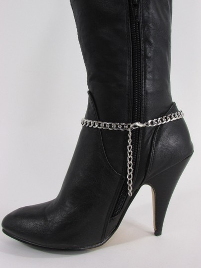 Alwaystyle4you Women Silver Boot Chain Bracelet Bull Texas Cow Shoe Bling Anklet Char Image 11