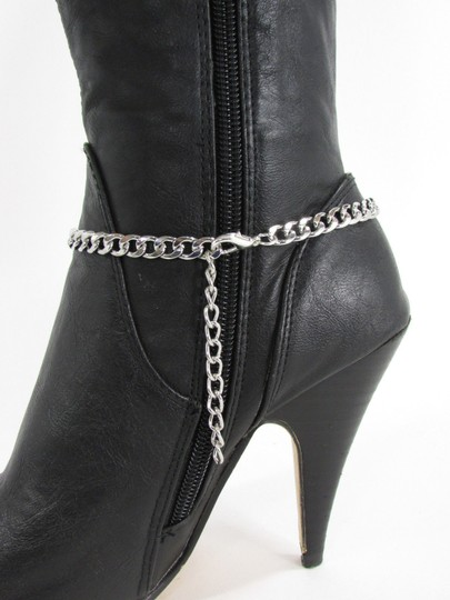 Alwaystyle4you Women Silver Boot Chain Bracelet Bull Texas Cow Shoe Bling Anklet Char Image 5