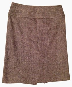 Anne Klein Skirt Brown Houndstooth