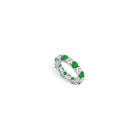 Preload https://img-static.tradesy.com/item/24277301/green-cubic-zirconia-and-created-emerald-eternity-band-14k-white-gold-500-c-ring-0-0-540-540.jpg