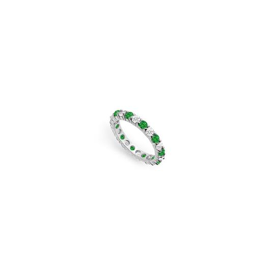 Preload https://img-static.tradesy.com/item/24277318/green-cubic-zirconia-and-created-emerald-eternity-band-14k-white-gold-200-c-ring-0-0-540-540.jpg