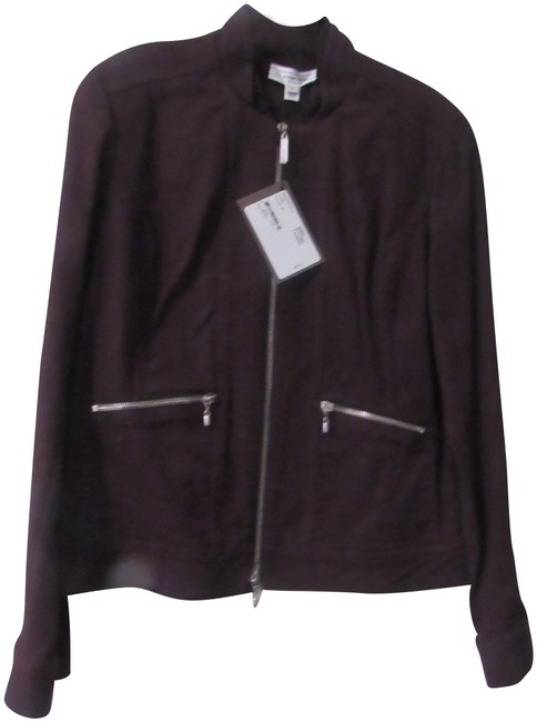 Item - Dark Brown Sport with Zippers Jacket Size 6 (S)