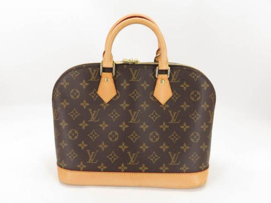 ed41e306b17 Louis Vuitton Alma Monogram 868509 Brown Coated Canvas Satchel 43% off  retail