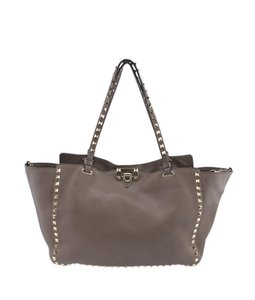 Valentino Leather Tote in xGrey