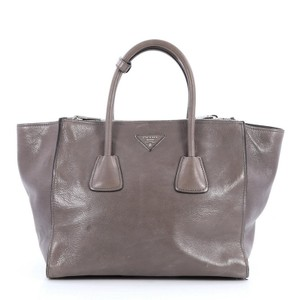 Prada Leather Tote in grey