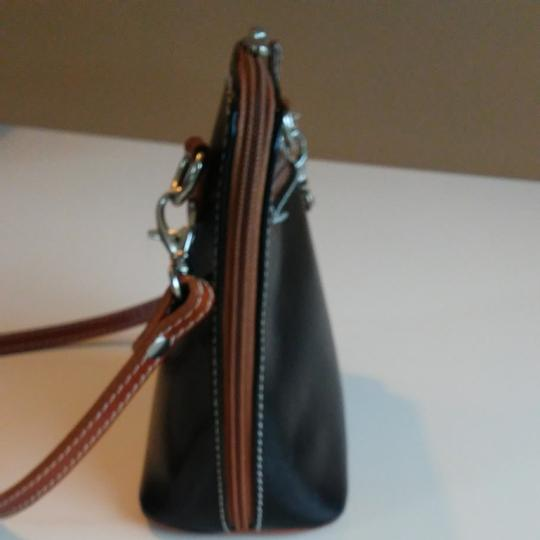FLORENCE Dual Zipper Leather Made In Italy Cross Body Bag Image 4