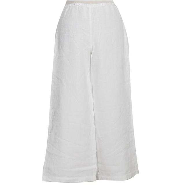 Item - White XS Heavy Linen Wide Pants Size 2 (XS, 26)