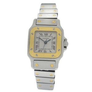 Cartier Authentic Ladies Cartier Santos Galbee 18K Yellow Gold Automatic 24MM