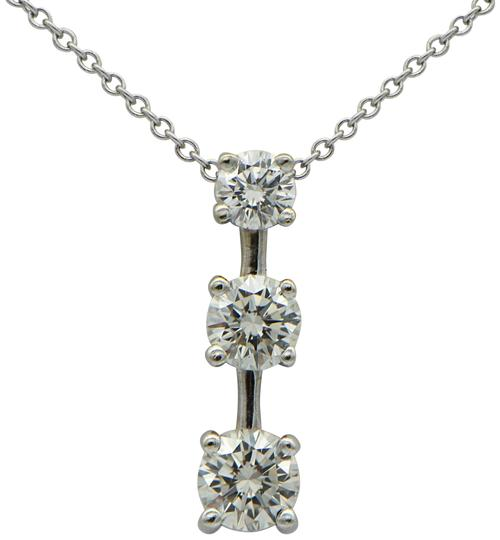 Preload https://img-static.tradesy.com/item/24277718/diamond-and-white-gold-three-drop-pendant-with-chain-necklace-0-3-540-540.jpg
