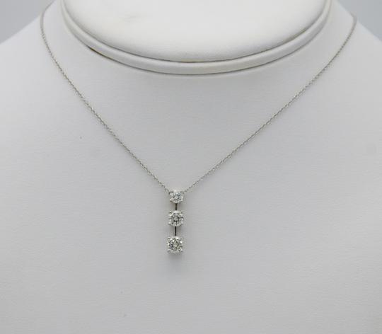 Sea Wave Diamonds Three Diamond Drop Pendant with Chain NIB NWT Image 1