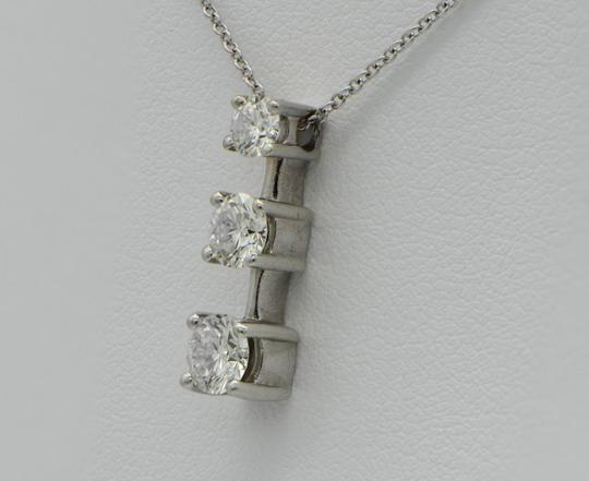 Sea Wave Diamonds Three Diamond Drop Pendant with Chain NIB NWT Image 2