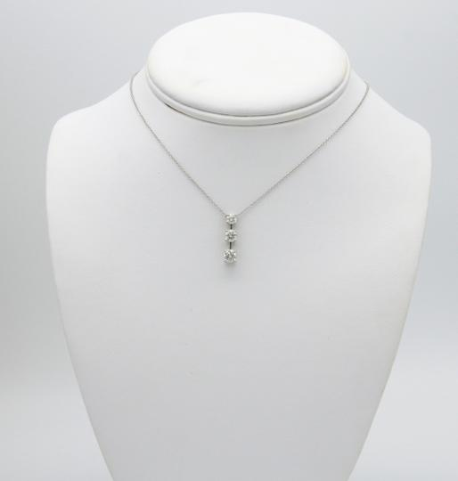 Sea Wave Diamonds Three Diamond Drop Pendant with Chain NIB NWT Image 3