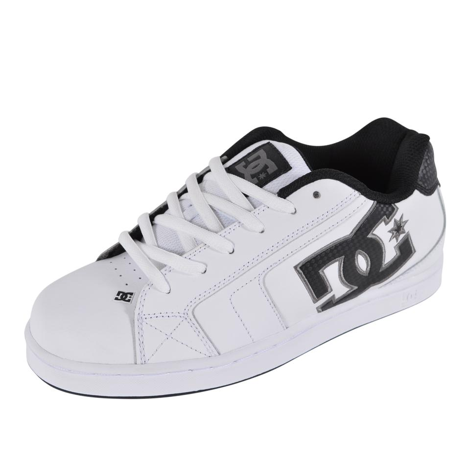 biggest selection super quality biggest discount DC Shoes White New Men's Leather Net 302361 Skateboard Sneakers Size US 7  Regular (M, B)