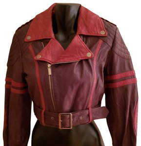 Jean-Paul Gaultier for Target Red/Brown Leather Jacket