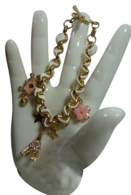 Item - White Charms Lucky Travel with Leather Bracelet