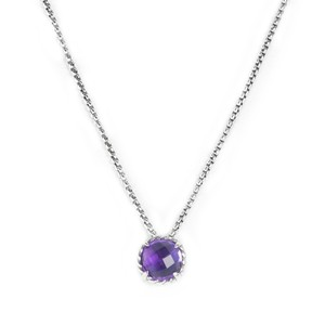 David Yurman Amethyst Chatelaine Pendant Necklace
